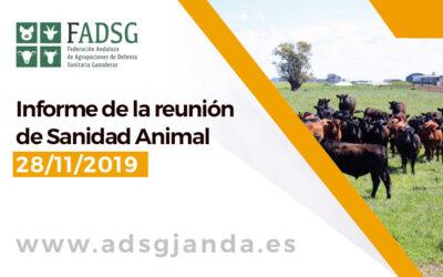 Informe de la reunión de Sanidad Animal 28 de Noviembre